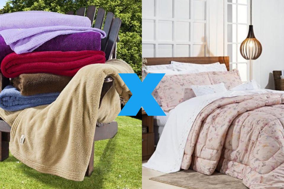 Diferença entre cobertor ou edredom
