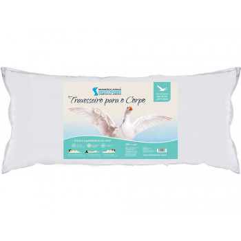 Travesseiro para o Corpo - Body Pillow - 95% Penas e 05% plumas - 150 x 50